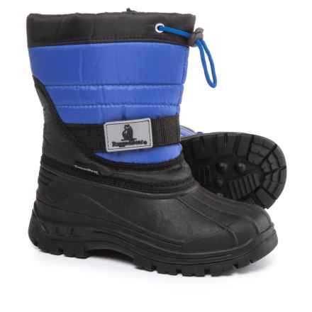Rugged Bear Zip Pac Boots - Waterproof, Insulated (For Boys) in Black/Blue - Closeouts