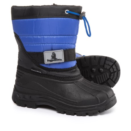 Rugged Bear Zip Pac Boots - Waterproof, Insulated (For Boys) in Black/Blue