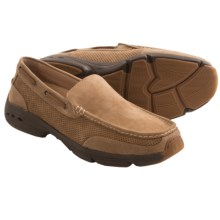 Rugged Shark Aloha Johnny Shoes - Slip-Ons (For Men) in Tan/Dark Brown - Closeouts