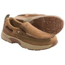 Rugged Shark Bill Dance Angler Boat Shoes - Slip-Ons (For Men) in Gold Dust - Closeouts