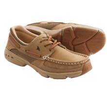 Rugged Shark Hatteras Boat Shoes (For Men) in Oak - Closeouts