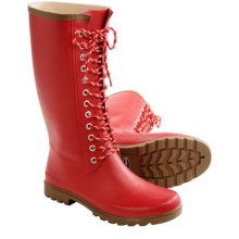 Rugged Shark Raindears Rain Boots - Waterproof (For Women) in Red - Closeouts