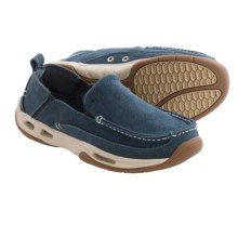 Rugged Shark Squall Boat Shoes - Slip-Ons (For Men) in Denim - Closeouts