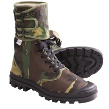 Ruko Buckle Canvas Desert Boots (For Men and Women) in Green Camo - 2nds