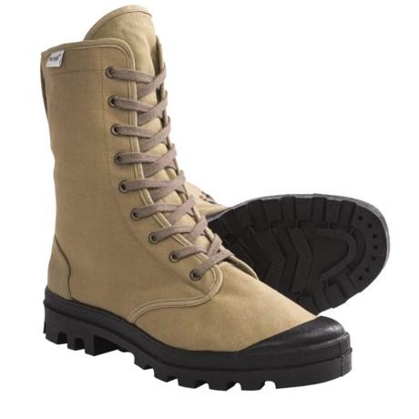 Ruko Canvas Desert Boots (For Men and Women) in Khaki