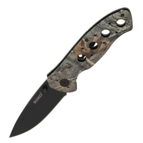 Ruko High Visibility Folding Knife - Liner Lock, Oxide Finish