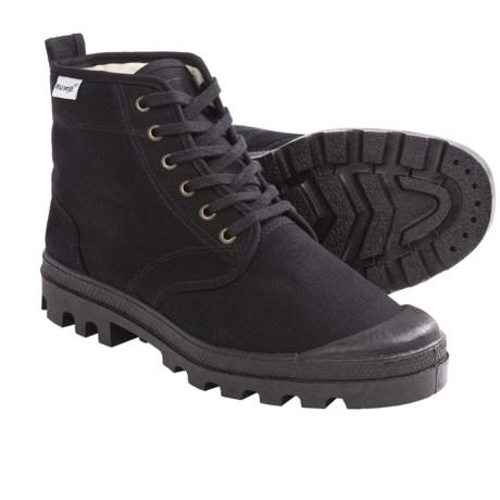 Ruko Short Canvas Desert Boots (For Men and Women) in Black