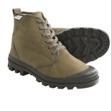 Ruko Short Canvas Desert Boots (For Men and Women) in Olive - 2nds