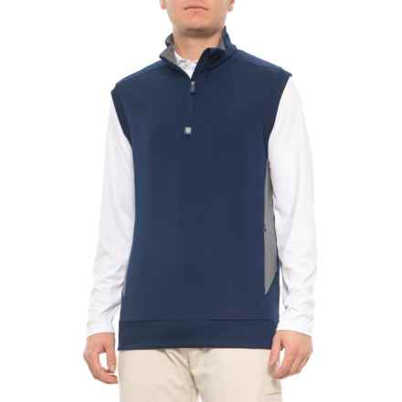 Rule 18 by Bobby Jones High-Performance Vest - Zip Neck (For Men) in Navy - Closeouts