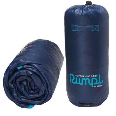 """RUMPL Puffer Outdoor Blanket - 45x65"""", Estate Blue"""