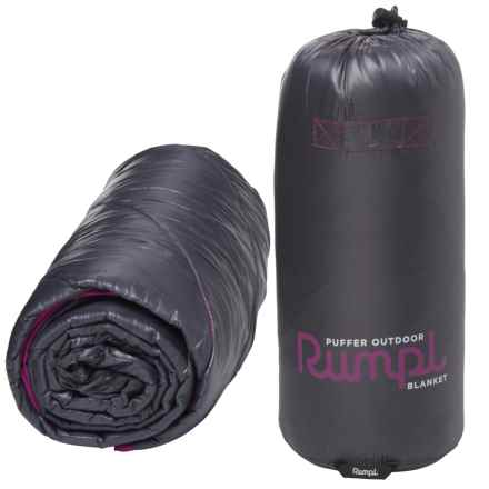 """RUMPL Puffer Outdoor Blanket - 45x65"""", Iron Gate"""