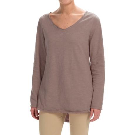 Runaway Cotton Split-Back Shirt - Long Sleeve (For Women)