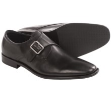 Rush by Gordon Rush Monk Strap Loafers -Slip-Ons (For Men) in Black - Closeouts