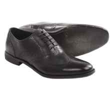 Rush by Gordon Rush Wingtip Oxford Shoes (For Men) in Black - Closeouts