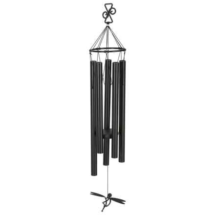 Russco Majestic Baron Dragonfly Wind Chime in Matte Black - Closeouts