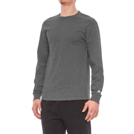 Russell T-Shirt - Long Sleeve (For Men) in Black Heather - Closeouts