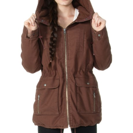 RVCA Camp Out Jacket - Insulated (For Women) in Potting Soil