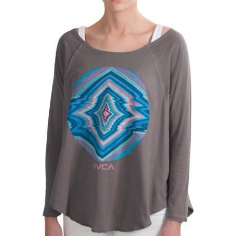 RVCA Electric Eye Shirt - 3/4 Dolman Sleeve (For Women) in Blue Shadow