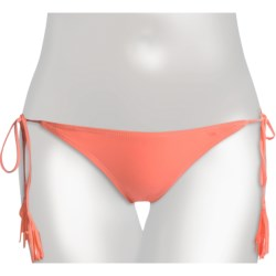 RVCA Pongham Bikini Bottoms - Side Ties (For Women) in Coral