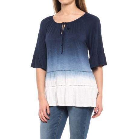 RXB Dip Dye Shirt - Elbow Sleeve (For Women) in Indigo Dip Dye