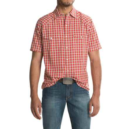 Ryan Michael Arrow Dobby Shirt - Short Sleeve (For Men) in Paprika - Closeouts