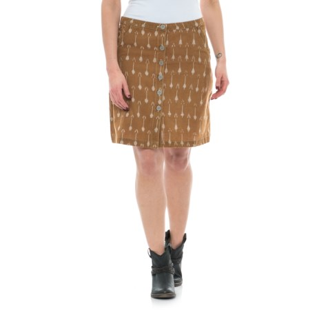 Ryan Michael Ikat Arrow Woven Skirt (For Women) in Earth