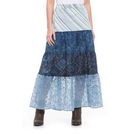 Ryan Michael Malibu Tiered Maxi Skirt (For Women) in Indigo - Closeouts