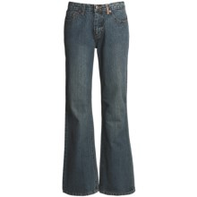 Ryan Michael Ring Denim Jeans - 13 oz. Cotton (For Women) in Dark Denim - Closeouts