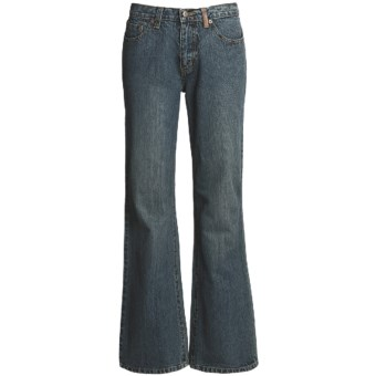 Ryan Michael Ring Denim Jeans - 13 oz. Cotton (For Women) in Dark Denim
