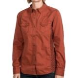 Ryan Michael The Double Diamond Snap-Front Shirt - Gingham Insert, Long Sleeve (For Women)