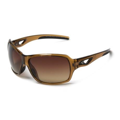 RYDERS EYEWEAR Carlita Sunglasses - Polarized (For Women) in Brown/Brown