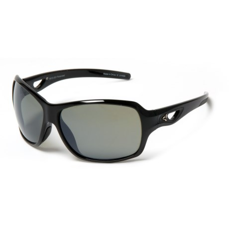 RYDERS EYEWEAR Carlita Sunglasses - Polarized (For Women) in Polar Black/Grey Lens/Silver