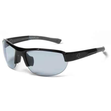 RYDERS EYEWEAR Crankum Sunglasses - Polarized, veloPOLAR Anti-Fog Lenses in Black-Grey/Grey Lens - Closeouts