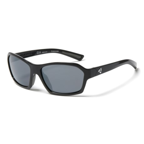 RYDERS EYEWEAR Gia Sunglasses (For Women) in Black/Grey Lens/Silver Frame