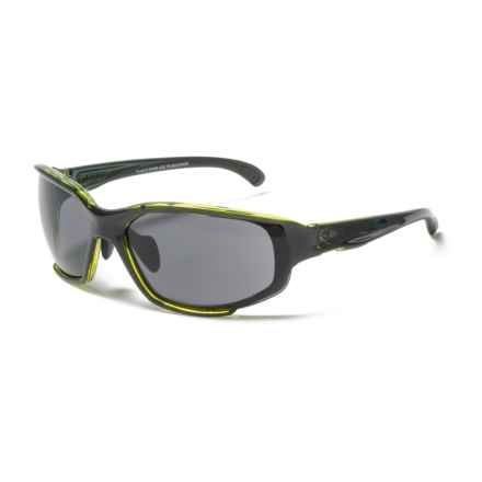 RYDERS EYEWEAR Hijack Sunglasses - Extra Lenses in Black/Green/Grey-Brown-Clear - Closeouts