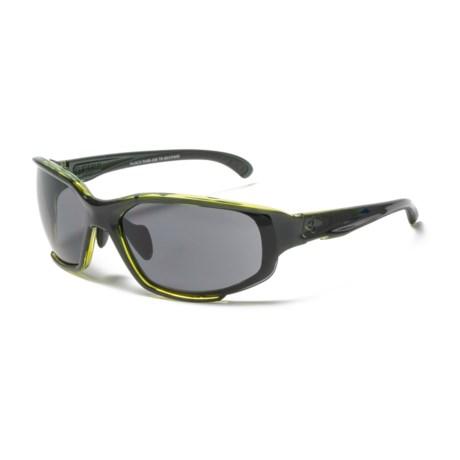 RYDERS EYEWEAR Hijack Sunglasses - Extra Lenses in Black/Green/Grey-Brown-Clear