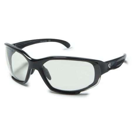 Ryders Eyewear Hijack Sunglasses - Photochromic Lenses in Black/Light Grey