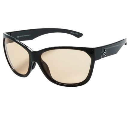 RYDERS EYEWEAR Kat Sunglasses - Photochromic (For Women) in Black/Brown