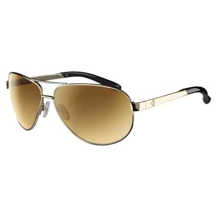 RYDERS EYEWEAR Mig Sunglasses - Polarized in Gold/Brown/Gold Gradient - Closeouts