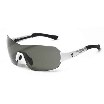 RYDERS EYEWEAR Pace Sunglasses - Polarized, veloPOLAR Anti-Fog Lenses in Polar White/Grey Decal/Dark Grey - Closeouts