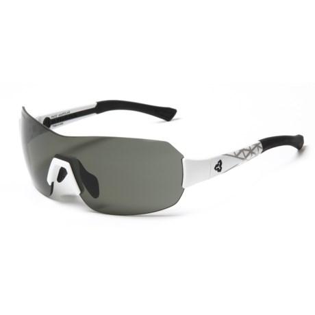 RYDERS EYEWEAR Pace Sunglasses - Polarized, veloPOLAR Anti-Fog Lenses in Polar White/Grey Decal/Dark Grey