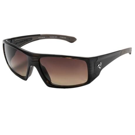 RYDERS EYEWEAR Trapper Sunglasses - Polarized in Streak Demi/Brown Gradient