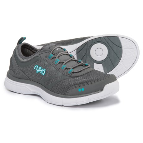 ryka Divya Training Shoes - Slip-Ons (For Women) in Grey/Blue/White