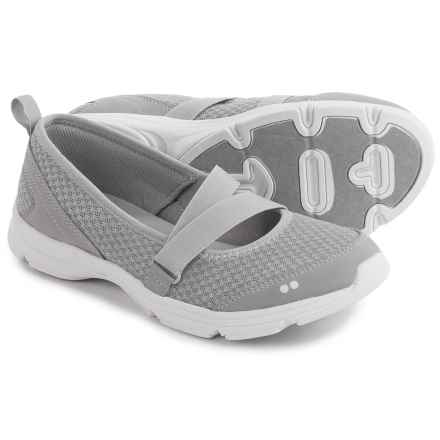 ryka Jamie Mary Jane Shoes - Slip-Ons (For Women) in Grey/White - Closeouts