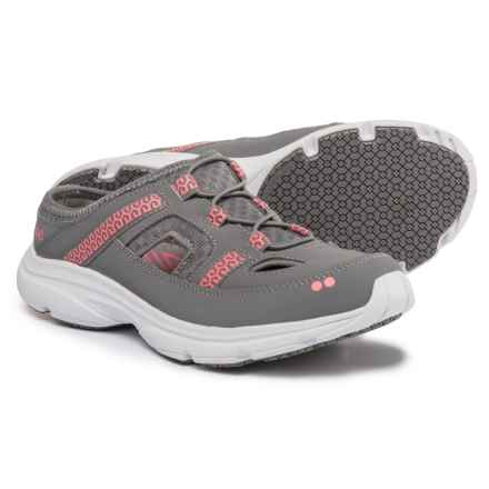 Ryka ryka Tisza Mule Sneakers (For Women) in Grey/Coral - Closeouts