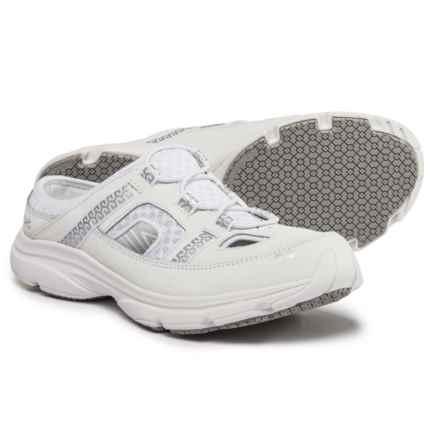 Ryka ryka Tisza Mule Sneakers (For Women) in White / Silver - Closeouts