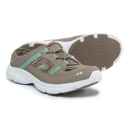 ryka Tisza Mule Sneakers (For Women) in Taupe/Mint - Closeouts
