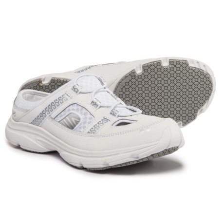 ryka Tisza Mule Sneakers (For Women) in White / Silver