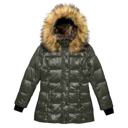 S13/NYC Chelsea Bubble Down Jacket (For Big Girls) in Dark Military - Closeouts