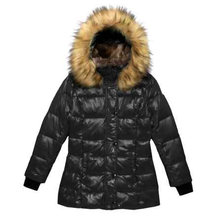 S13/NYC Chelsea Bubble Down Jacket (For Big Girls) in Jet - Closeouts